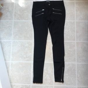 Black stretchy jeans from Express